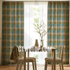 england style plaid modern living room fancy curtains