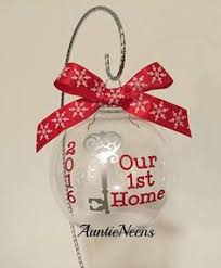in our new home frosted glass ornament