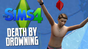 the sims 4 death by drowning swimming pool the sims 4 funny