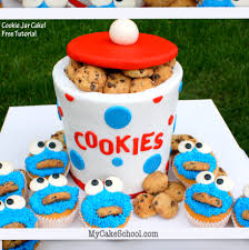 cookie jar cake with cookie monster cupcakes blog tutorial my