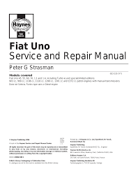 fiat uno 45 user manual 303 pages also for uno 55 uno 60