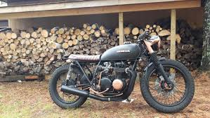 honda cb 500 honda cb500 brat bike by patrick couturier u2013 bikebound
