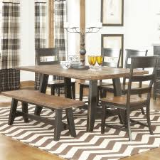 awesome black table with bench country style kitchen table