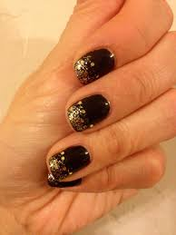 glitter gold sparkle fade new year u0027s eve shellac nail design