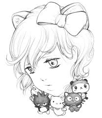 hello kitty pencil drawings