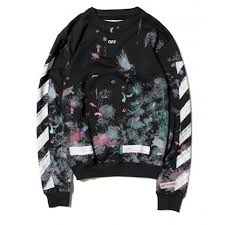 galaxy sweater white diagonal galaxy brushed sweater black