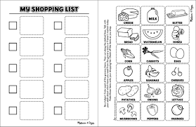 Grocery List Word Template Shopping List Template For Kids Training Session Feedback Form