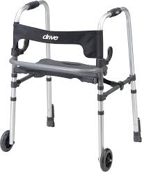senior walkers with seat clever lite ls walker with 5 wheels drive