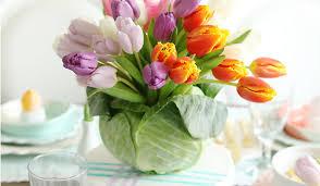 diy tulip cabbage flower arrangement for easter darling darleen