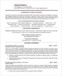 Early Childhood Education Resume Sample by Free Teacher Resume 40 Free Word Pdf Documents Download Free