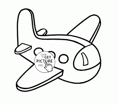 little plane coloring page for kids transportation coloring pages