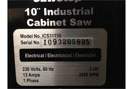Sawstop Industrial Cabinet Saw Used Saw Stop 2 Model Ics 31230 Table Saw 10