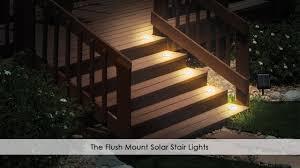 the flush mount solar stair lights youtube