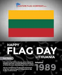 Green Day Flag Happy Flag Day Lithuania U2014 Custom Flag Company