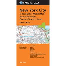 New York City Street Map by Folded Maps New York City 5 Boroughs Manhattan Bonx Brooklyn