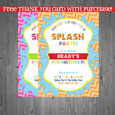 pool party invitations free cute splash party invitation birthday party ideas pinterest