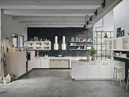 opera kitchen with peninsula sistema collection by snaidero