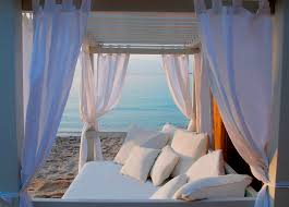 canopy bed double contemporary fabric rivage honeymoon