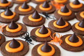 witch cutouts halloween halloween chocolate wicked witch hat cookies halloween recipes