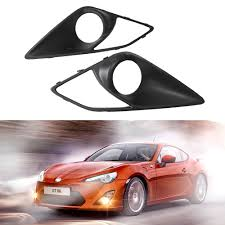 toyota subaru scion 2pcs lot new carbon fiber front fog light covers for toyota gt86