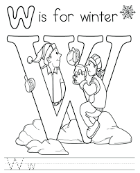 free winter coloring sheets for preschoolers pages of scene