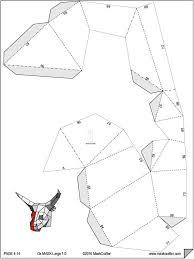 ox mask paper bull ox mask papercraft template festival mask