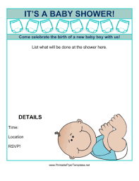 baby shower for boy baby shower flyer template free venturecapitalupdate