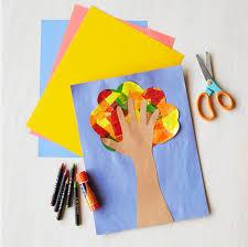 michaels kids club fall hand print tree craft rocket city mom