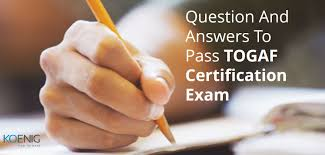 question and answers to pass togaf certification exam koenig it