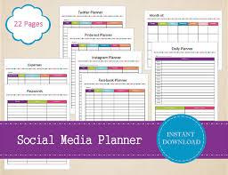 Social Media Planner | social media planner social media kit organized social