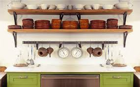wood shelving of kitchen wall shelves your kitchen design