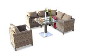 rattan lounge garden furniture set gaia sandstorm