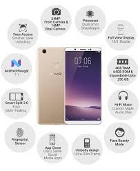 Vivo V7 Vivo V7 1716 Chagne Gold Without Offers In Electronics