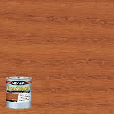 minwax 8 oz wood finish golden pecan oil based interior stain 8 oz polyshades pecan gloss stain and polyurethane in 1 step