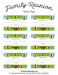 name tags for reunions printable family reunion name tags
