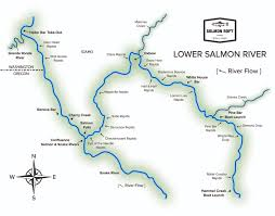 China River Map by River Maps Archives Salmon River Rafting Company