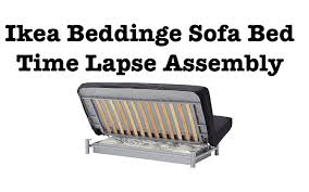 Ikea Sofa Bed Assembly Time Lapse YouTube - Sofa bed assembly