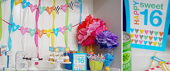 sweet 16 party decorations sweet 16 birthday party supplies party printables by