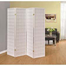 folding room dividers coaster folding screens four panel white folding screen del sol