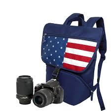 Flag Backpack Stylish Camera Backpack To Carry A Dslr Camera 1 Standard Lens Us