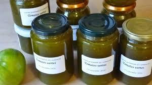 cuisiner les tomates vertes marmelade de tomates vertes au citron cuisine gourmande de