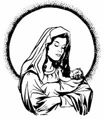 mary coloring page clip art library