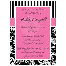 template sophisticated pink and gold 30th birthday invitations