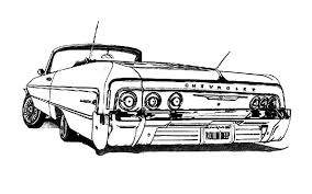 coloring pages of lowrider cars customized lowrider cars coloring pages download print online