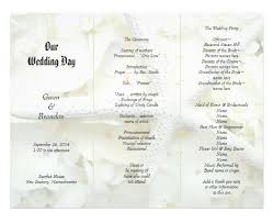 tri fold wedding programs tri fold wedding program templates jcmanagement co