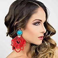 Big Chandelier Earrings Amazon Com Burgundy Chandelier Earrings Big Earrings Lace