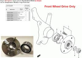 2002 aerio wheel hub assembly front suzuki forums suzuki forum site