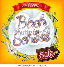 back school marketing background greeting card stock vector
