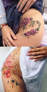 aga yadou watercolor flower beautytatoos tatty