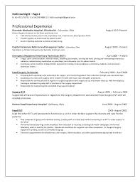 Veterinarian Resume Examples Resume Skills For Vet Tech Objective Engineering Internship Inside
